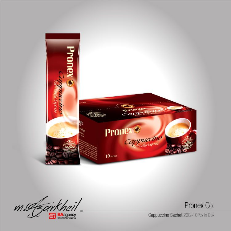 Pronex Co. Cappuccino Sachet & Package