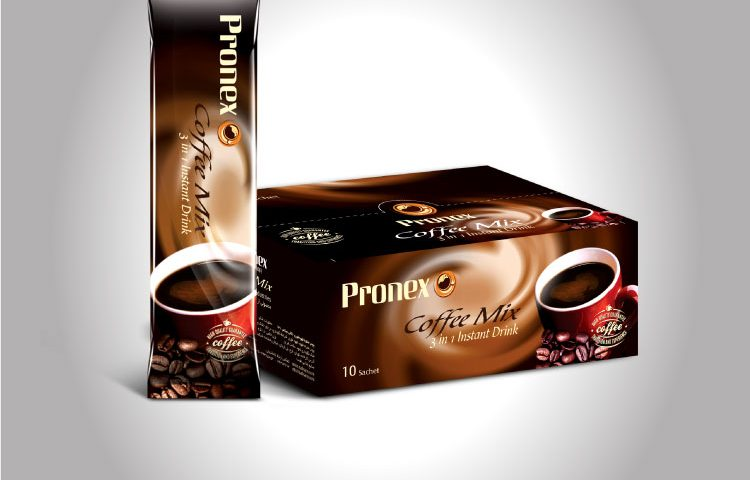 Pronex Co. Coffee Mix Sachet & Package