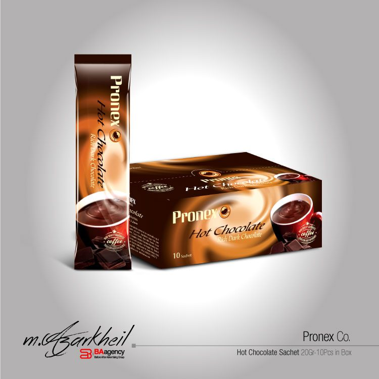 Pronex Co. Hot Chocolate Sachet & Package