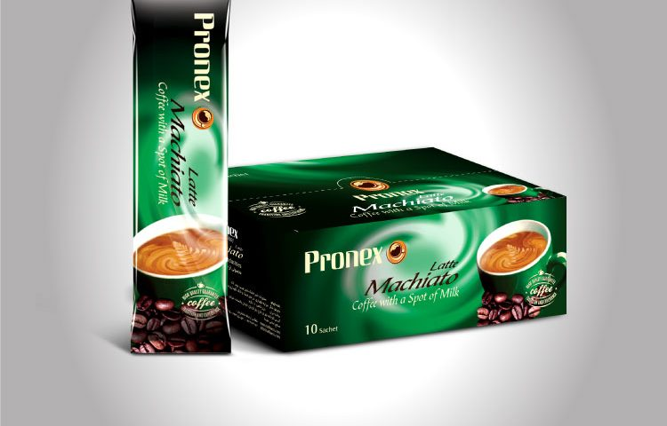 Pronex Co. Latte Macchiato Sachet & Package